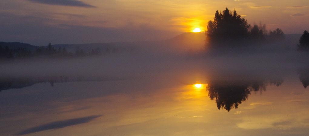 Solnedgång i Härjedalen, april, maj